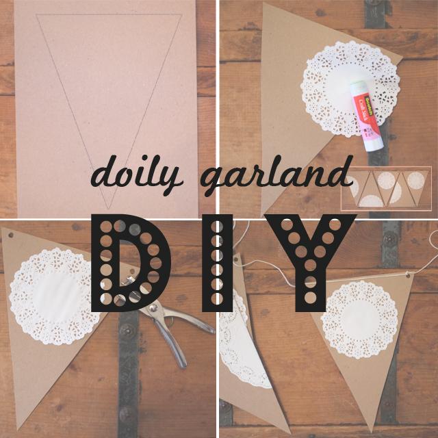doily garland DIY