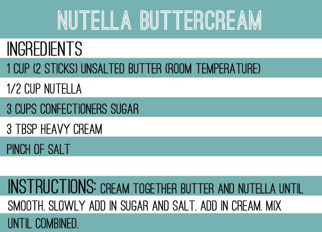 nutella buttercream