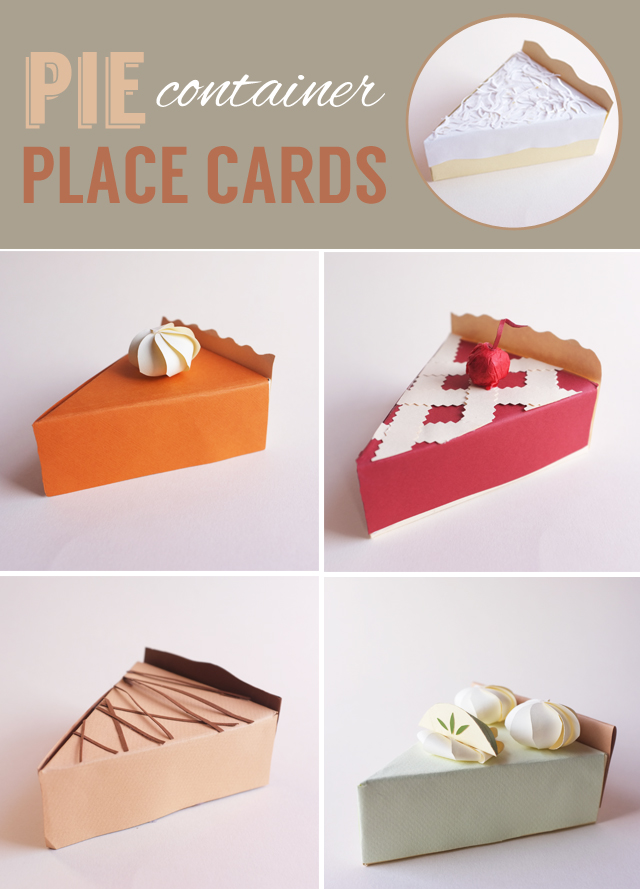 PIE container place cards