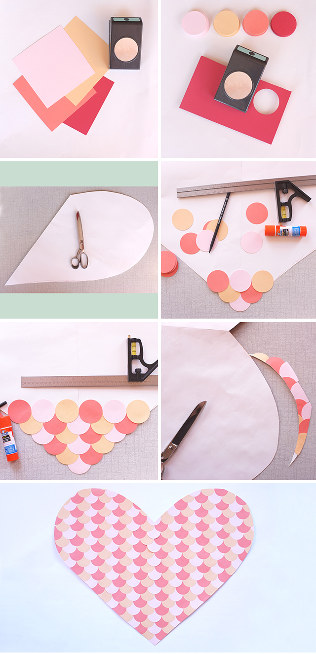DIY Scalloped Paper Heart Backdrop