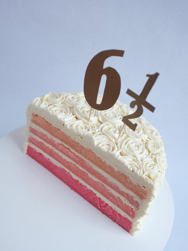 Baked Half Birthday Cake Alana Jones Mann