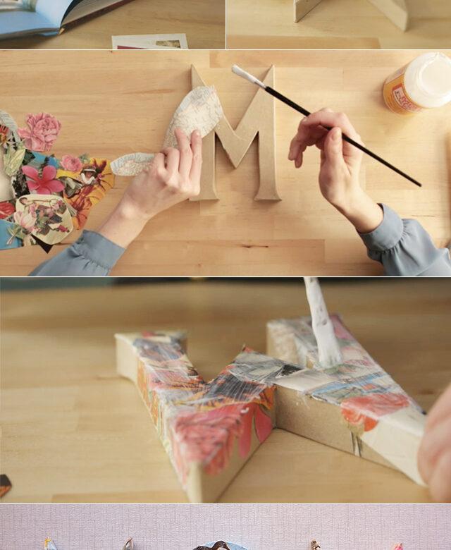 Craft On Decoupage Letters for Mom \u2013 Alana Jones,Mann