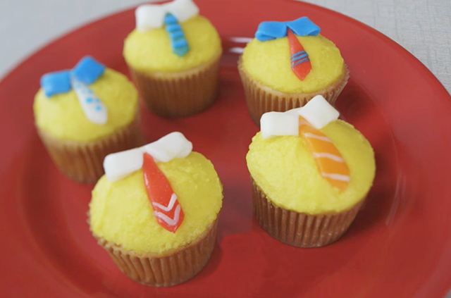 Craft On Necktie Cupcakes For Father S Day Alana Jones Mann
