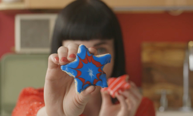 Patriotic Firework Cookie