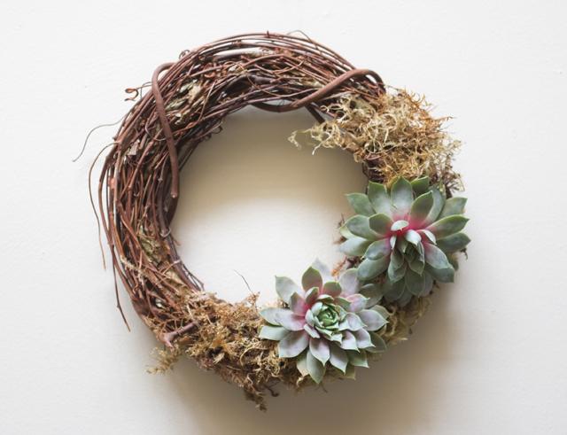 Succulent Wreath Medium