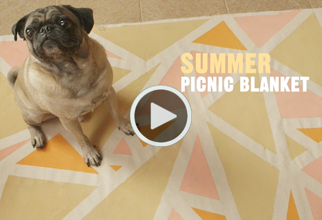 Summer Picnic Blanket DIY Video