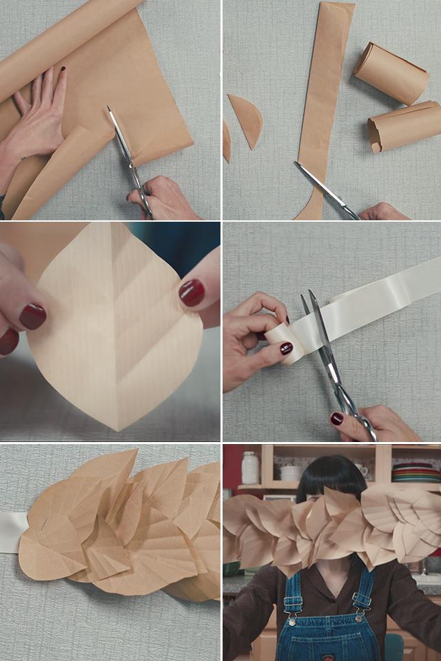 Paper Leaf Garland DIY