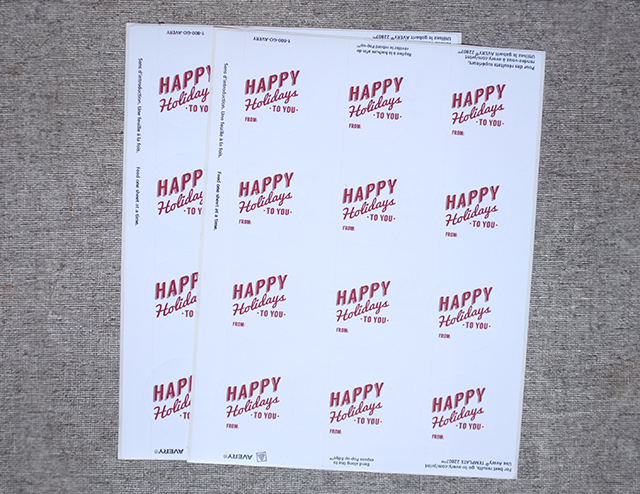 Avery Holiday Labels