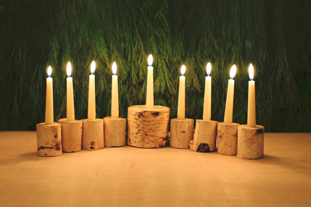 Birch Menorah