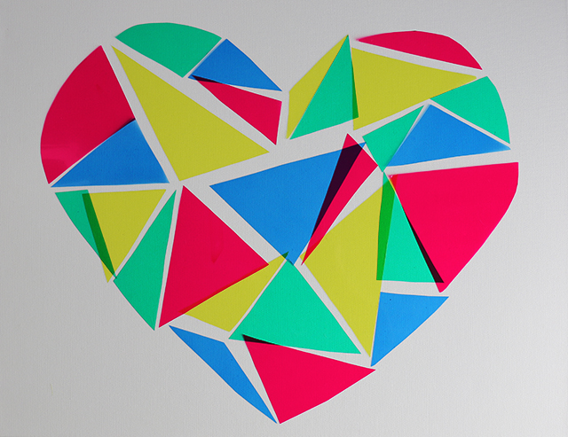 Geometric Heart Stained Glass DIY-4
