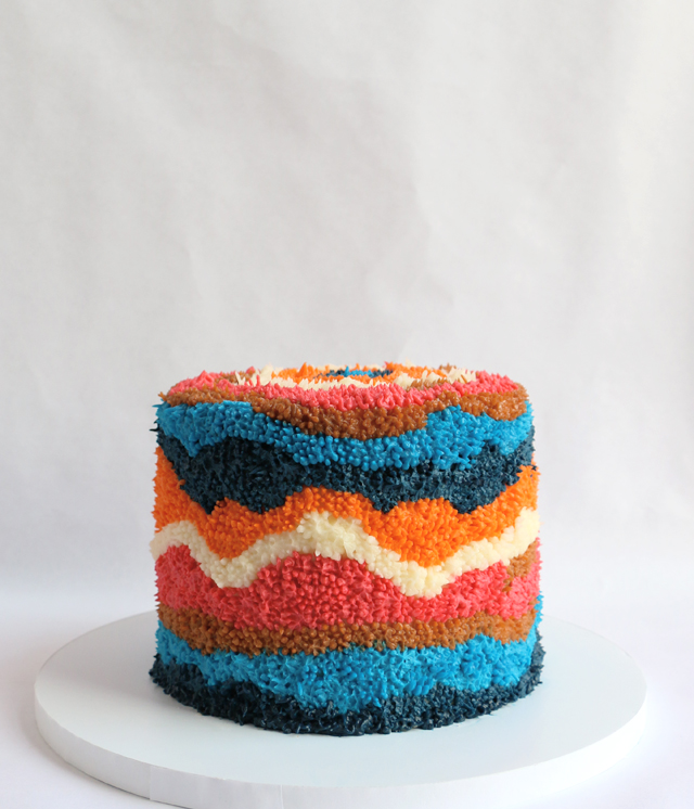 Textile Inspired Cake