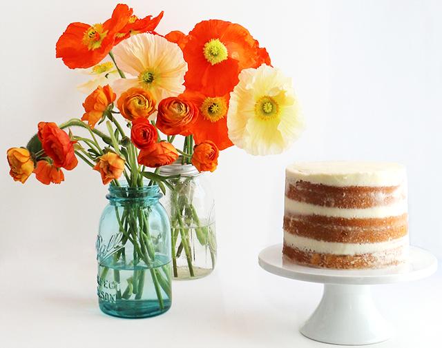 Cake Flower Vase DIY