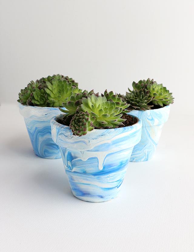 DIY Marbled Pots_1