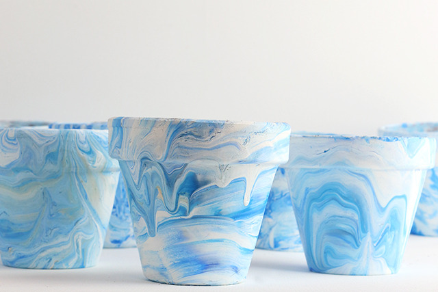 Marbled Pots