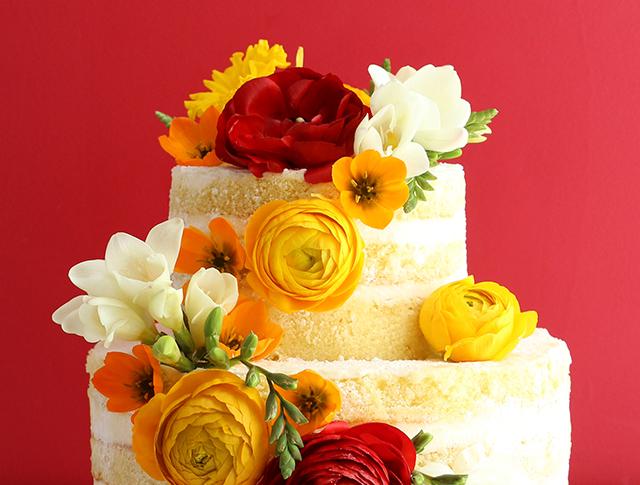 Naked Cake Red Ranunculus 2
