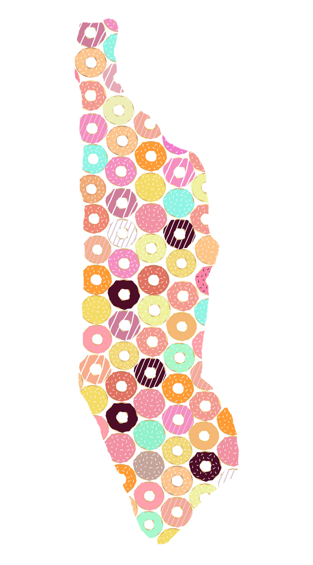 Manhattan Donut Illustration