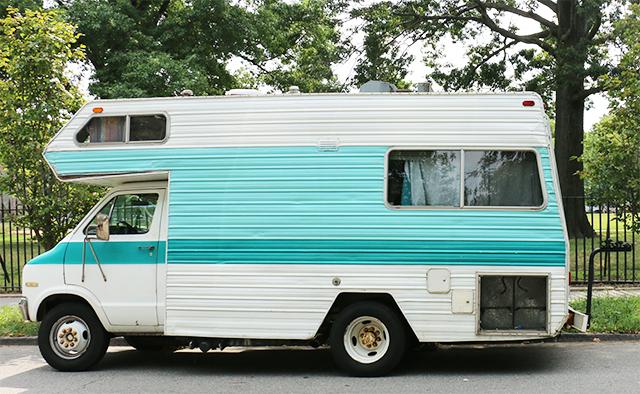 Mint Teal Camper