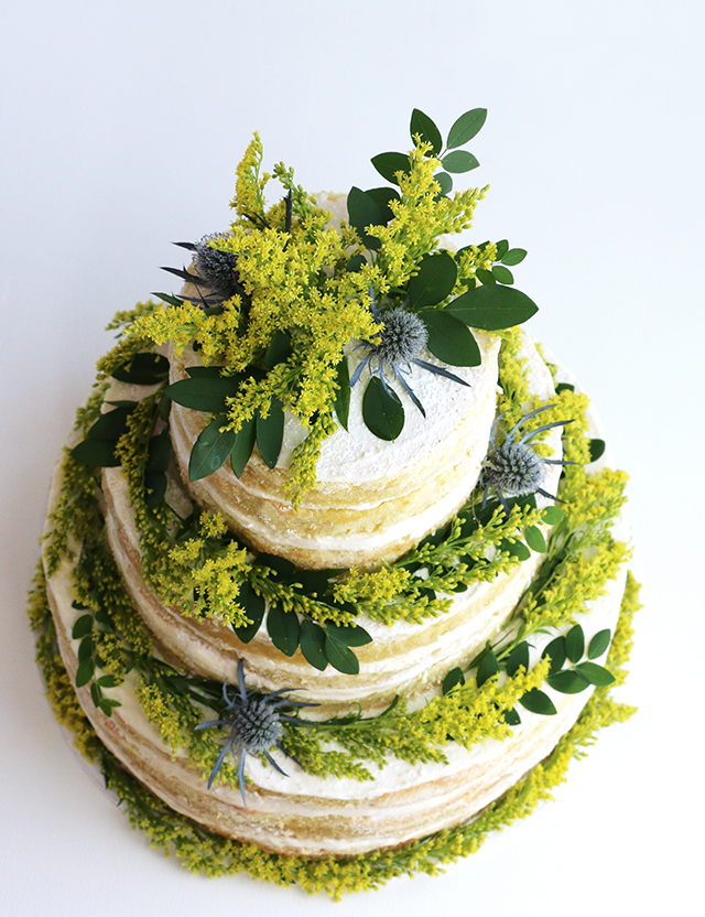 Summer Goldenrod Naked Cake
