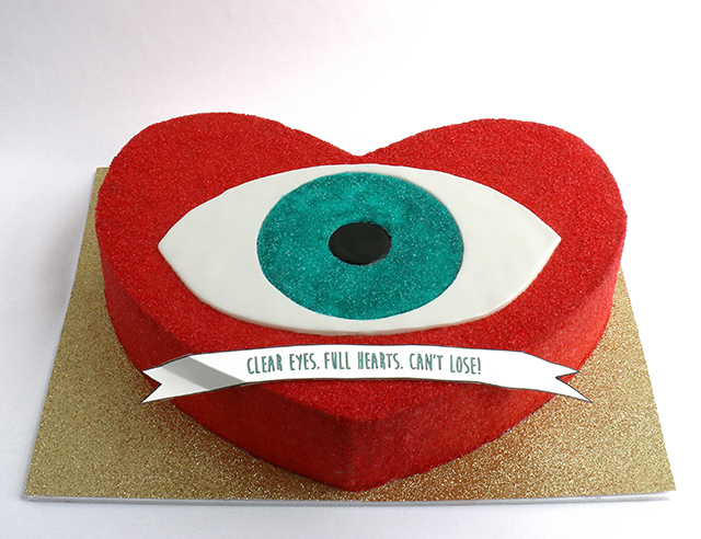 Evil Eye Heart Cake
