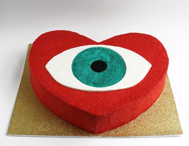 EvilEye Heart Cake