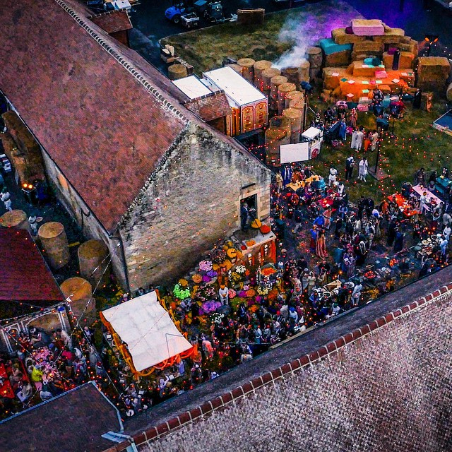 Wedding Party From Above