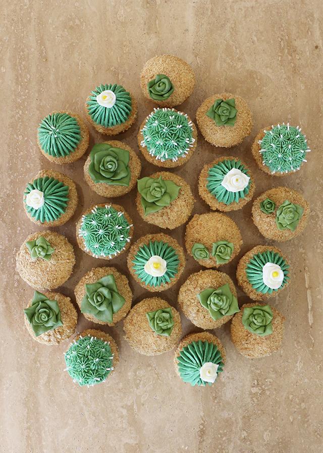Alana Jones-Mann Cactus Cupcakes