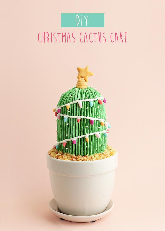 Christmas Cactus Cake