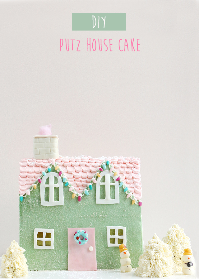Putz House Cake DIY