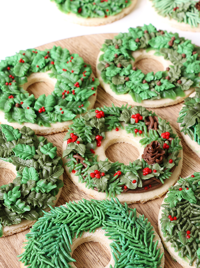 Wreath Cookies Printable Gift Box Labels Alana Jones Mann