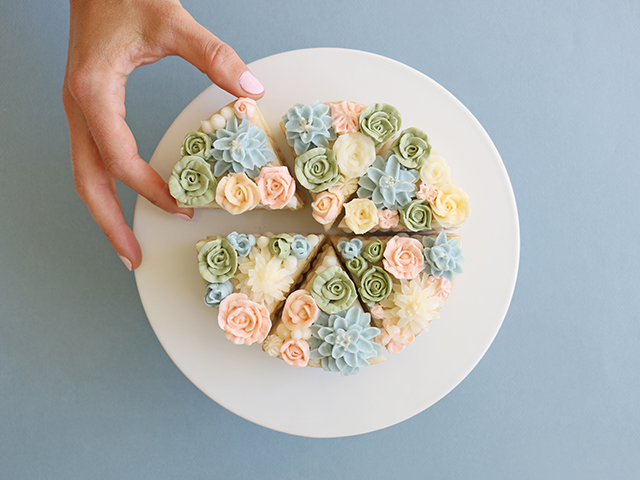 Cookie Cakes Flowers