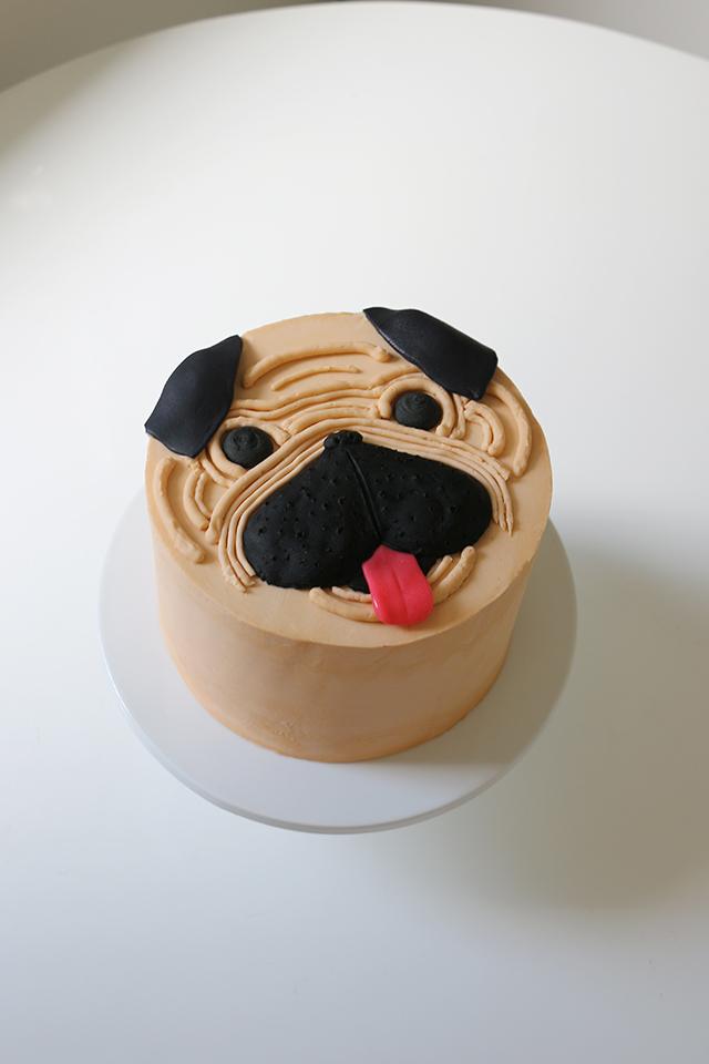 Cute Pug Cake