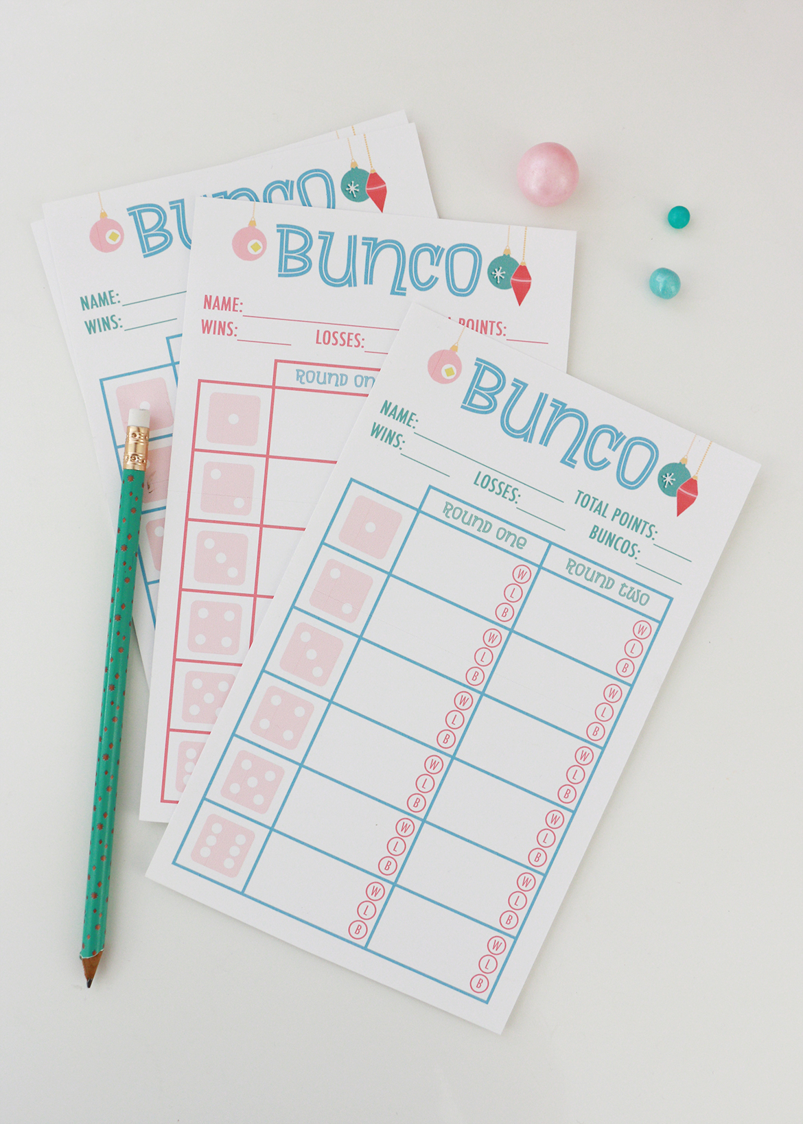 photo about Cute Bunco Score Sheets Printable referred to as Holiday vacation Bunco Social gathering (Printables Bundled!) Alana Jones-Mann