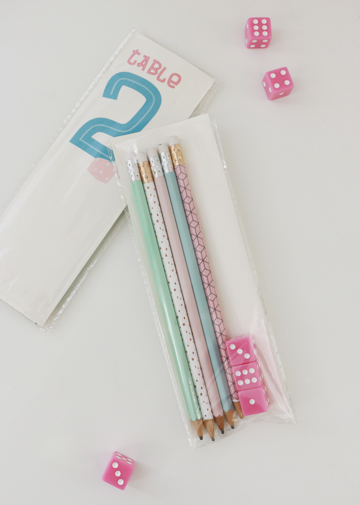 Bunco Table Number Packs